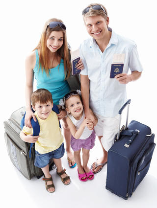 Family with Passports